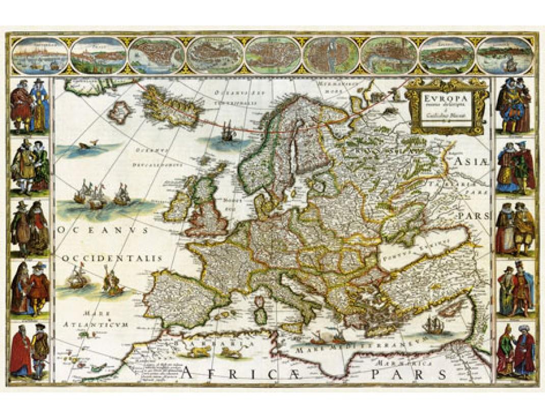 Nástěnná mapa HISTORICKÁ EVROPA