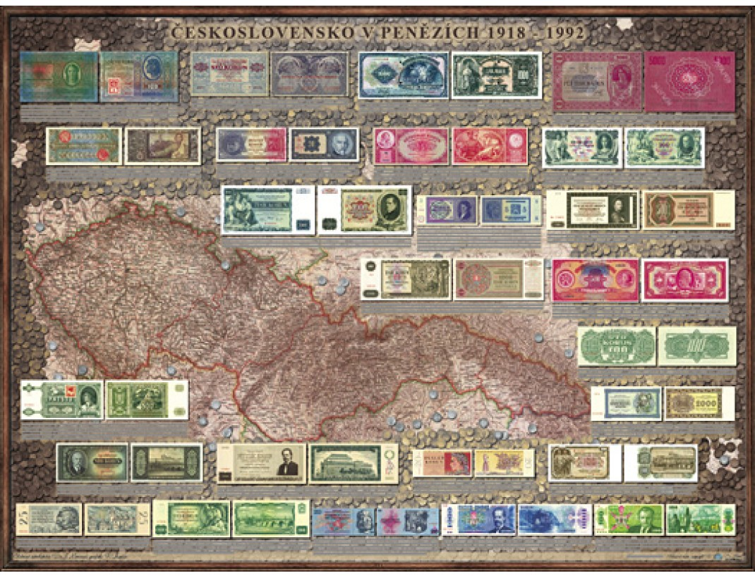 Peněžní mapa Československa