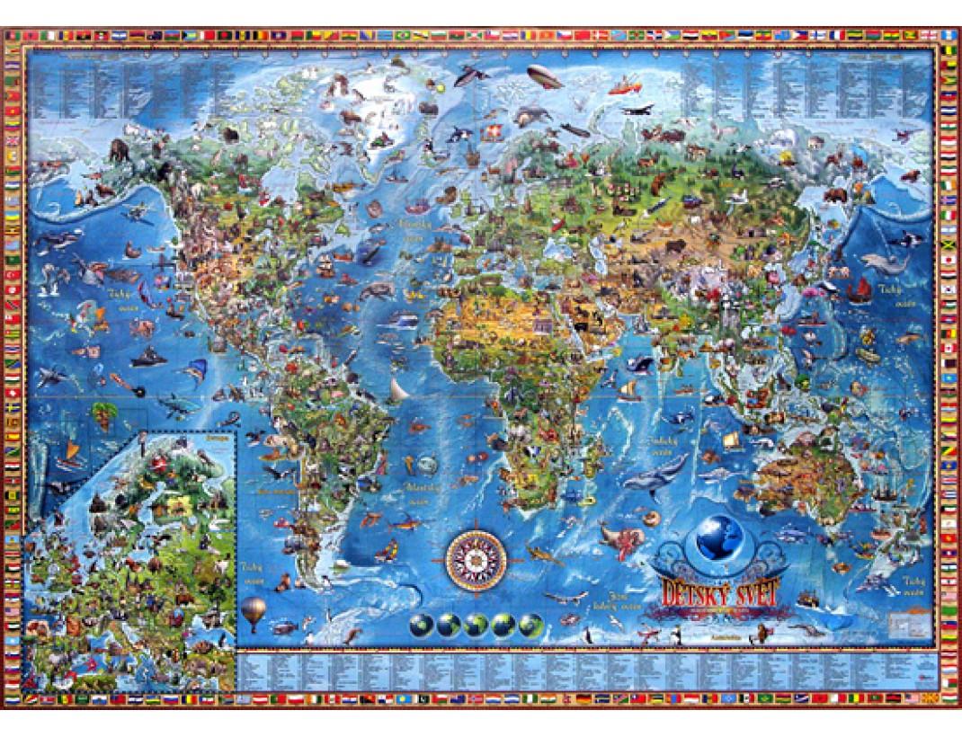 Nastenna Detska Mapa Sveta