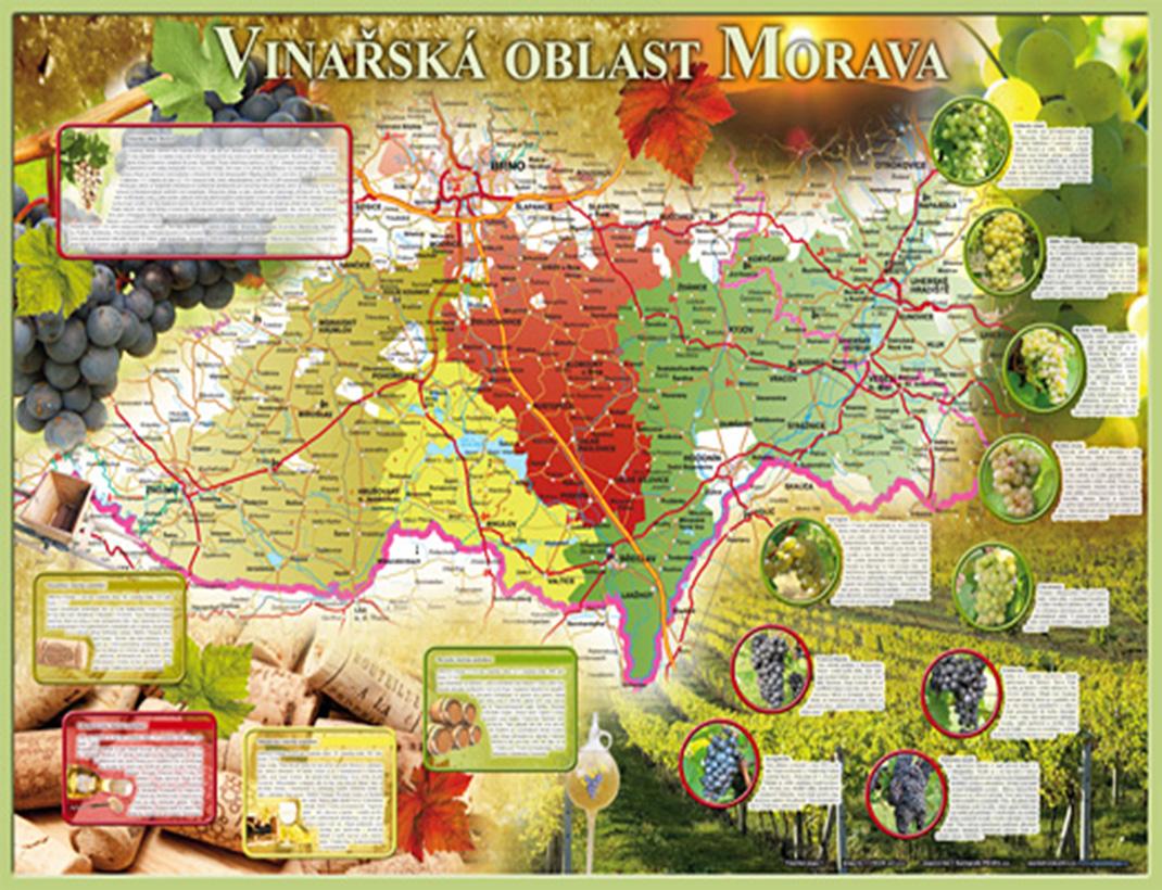 Vinařská mapa - Vinařská oblast Morava