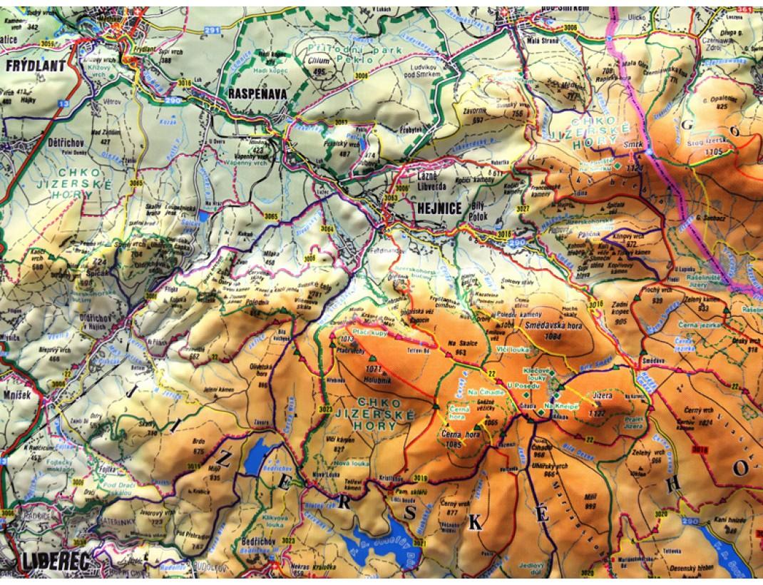 Plasticka Mapa Jizerske Hory A Cesky Raj