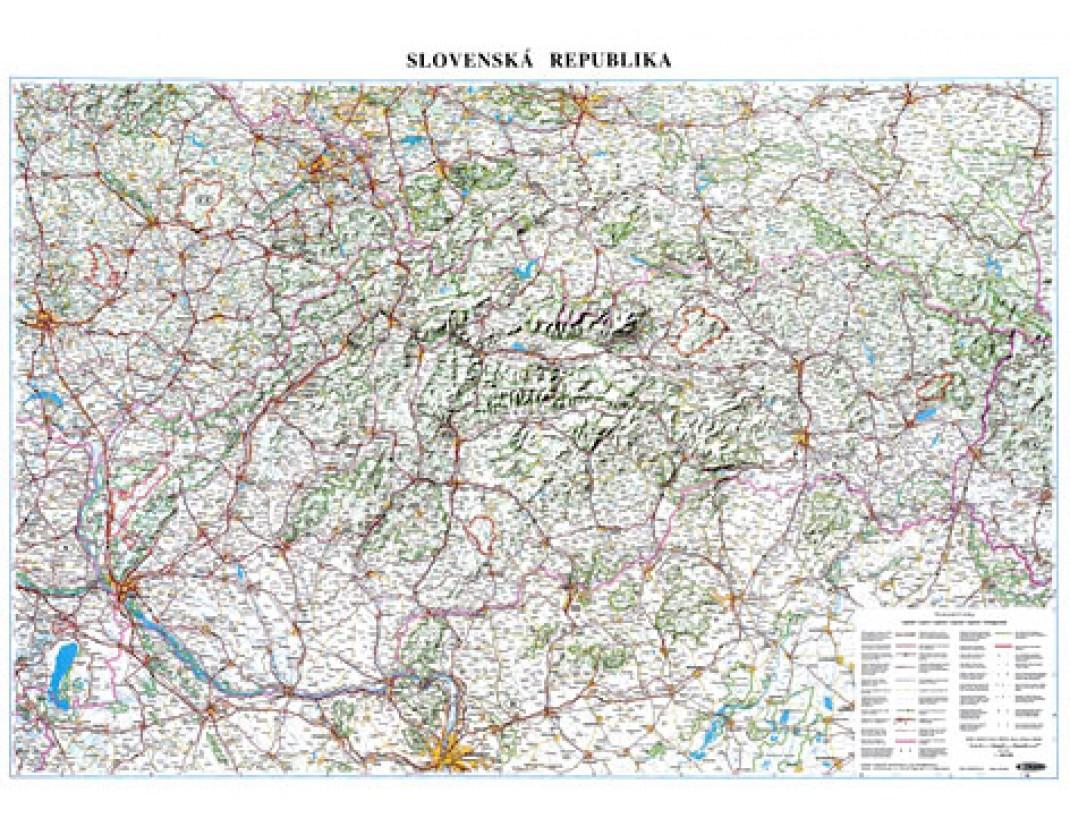 Nástěnná mapa SLOVENSKÁ REPUBLIKA A0