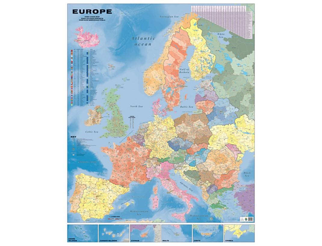 Nástěnná mapa Evropa spediční obří