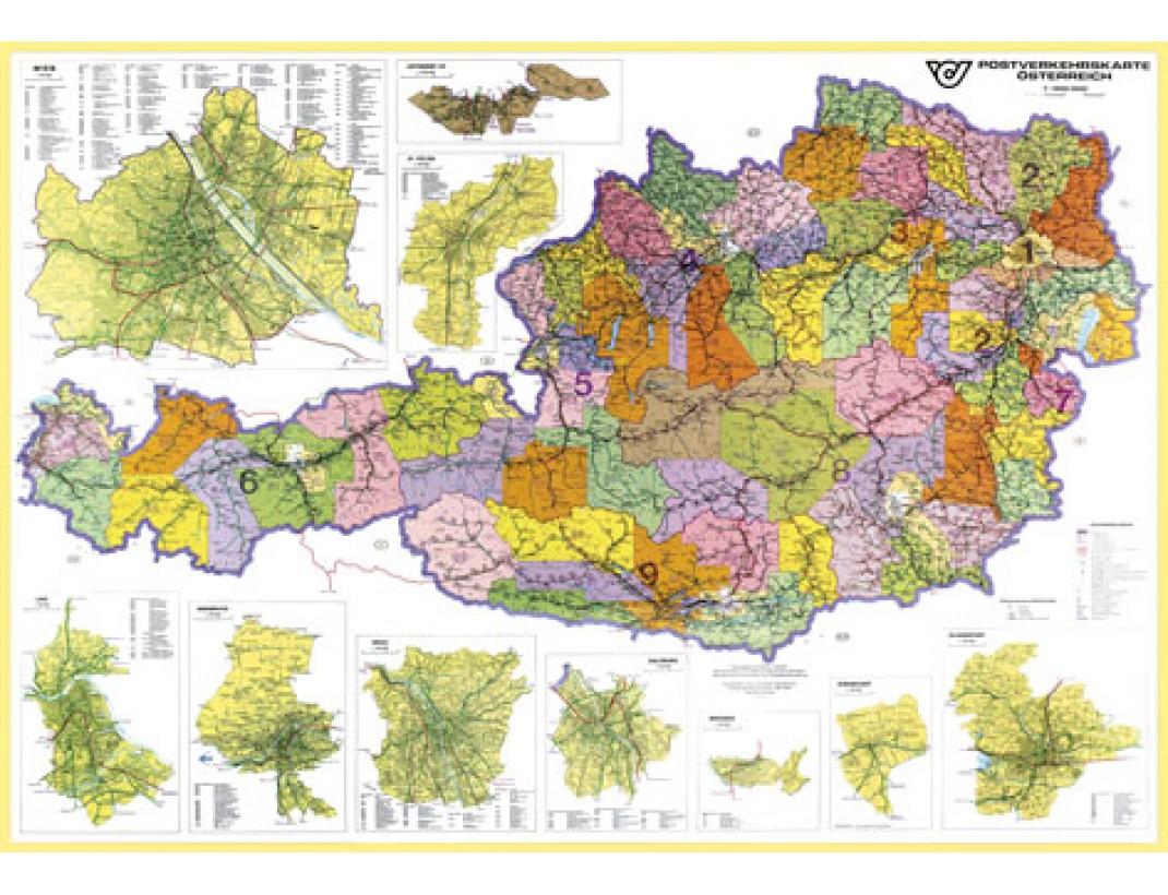 Nástěnná mapa SPEDIČNÍ RAKOUSKO