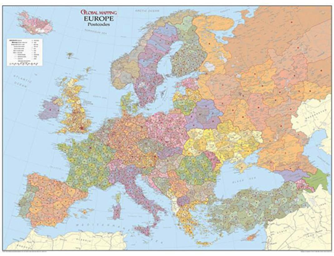 Nástěnná mapa SPEDIČNÍ EVROPA VELKÁ