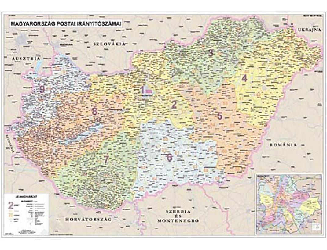 Nástěnná mapa SPEDIČNÍ MAĎARSKO