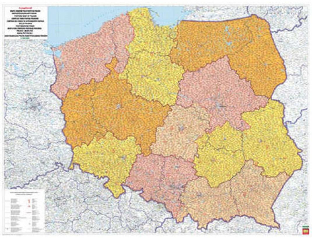 Nástěnná mapa SPEDIČNÍ POLSKO